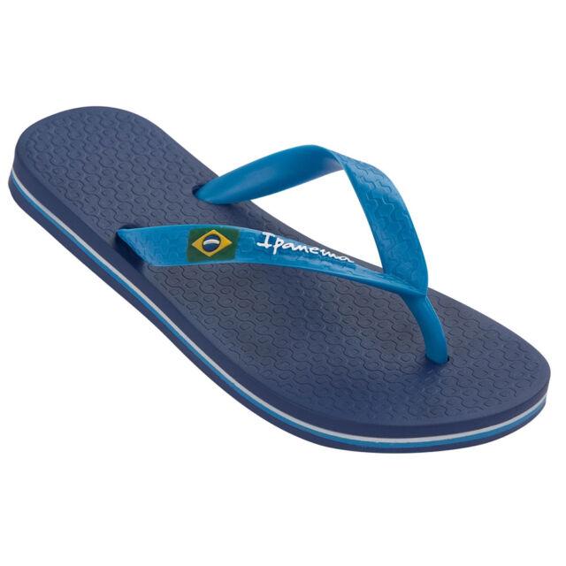 Ipanema Men's Classic Brazil Plastic Flip Flop Blue / White