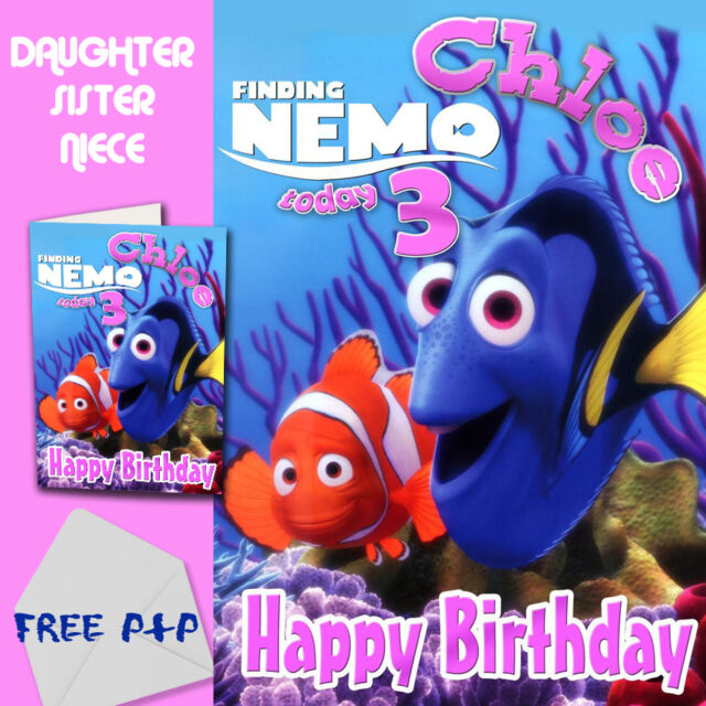 Finding Nemo Personalised Birthday Card Daughter Sister Niece Ebay