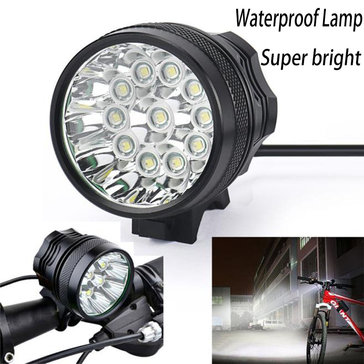 28000 Lm 11x Cree T6 Led 3 Modes Bicycle Lamp Bike Light Headlight