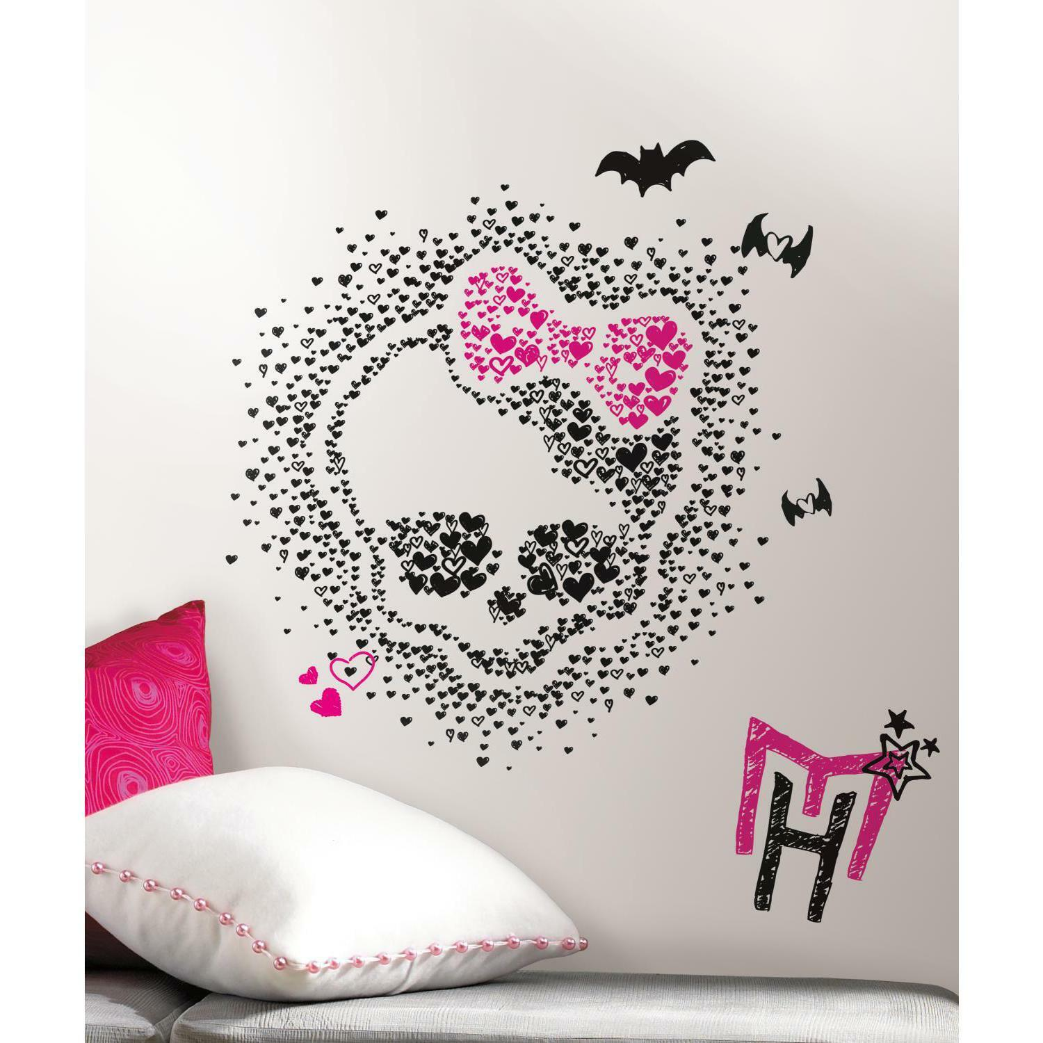 Monster high heart skullette wall stickers mural 18 decals decor picture 1 of 2 amipublicfo Gallery