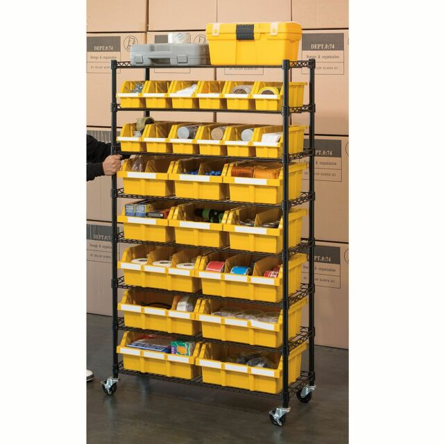 Industrial Kitchen Shelving: Commercial Bin Rack Storage Industrial Metal Shelving Unit