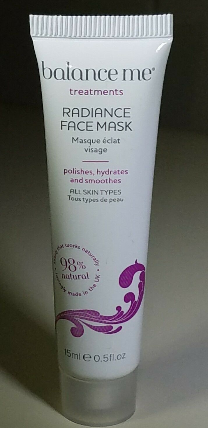 Balance Me Radiance Face Mask - Polishes, Hydrates, Smooths 0.5 oz Neosporin Lip Health Overnight Renewal Therapy 0.27 oz (Pack of 4)