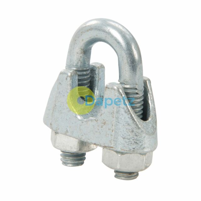 10pk Wire Rope Clips - M4 Cable Clamps Fixing Fixer Grip U Bolts ...