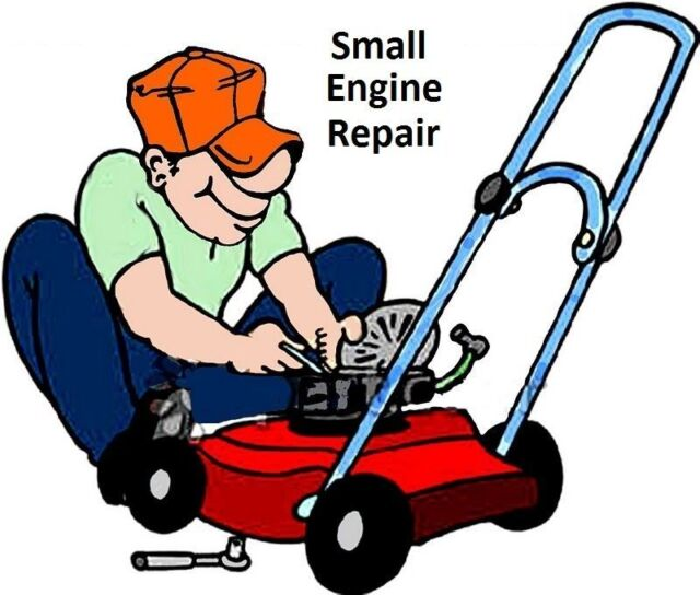 Small engine repair 25 books fix lawnmower mower bike boat for Boat motor repair shops