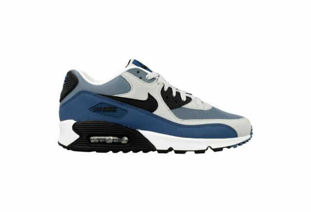 Size 13 Nike Men Air Max 90 Essential Running Shoes 537384 042 Blue White Black