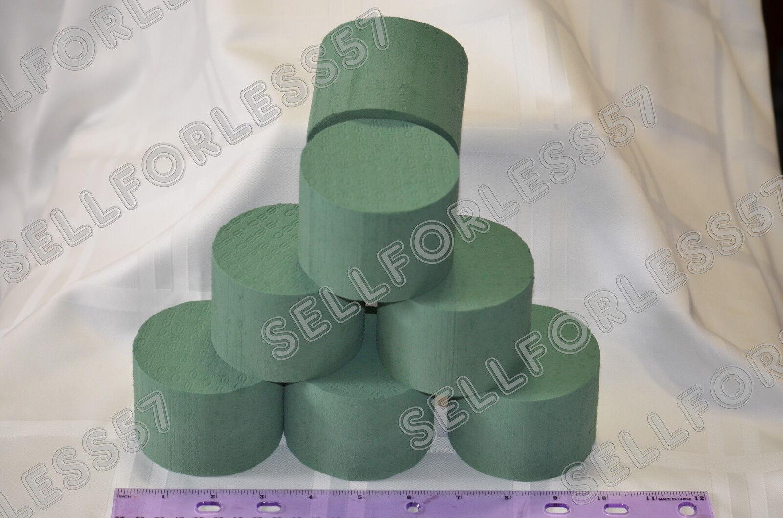 10x ideal floral foam wet round or cylinder shape oasis centerpiece arrangement ebay