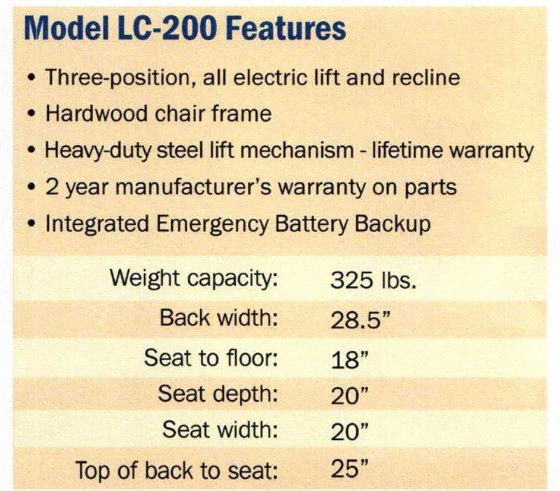 easy comfort lc 200 reclining lift chair wayne 3 position mega