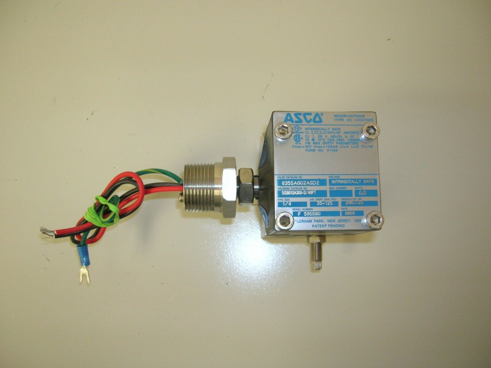 Asco 8355a002asd2 24vdc Solenoid Valve Intrinsically Safe Ebay Wiring Picture 1 Of 5