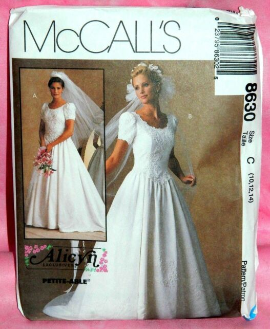 Uncut McCall Alicyn Exclusives Sz 10-14 Bridal Wedding Gown Dress ...
