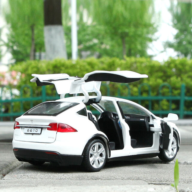 1 32 tesla model x 90d suv diecast model car toy collection luminous white gift ebay. Black Bedroom Furniture Sets. Home Design Ideas