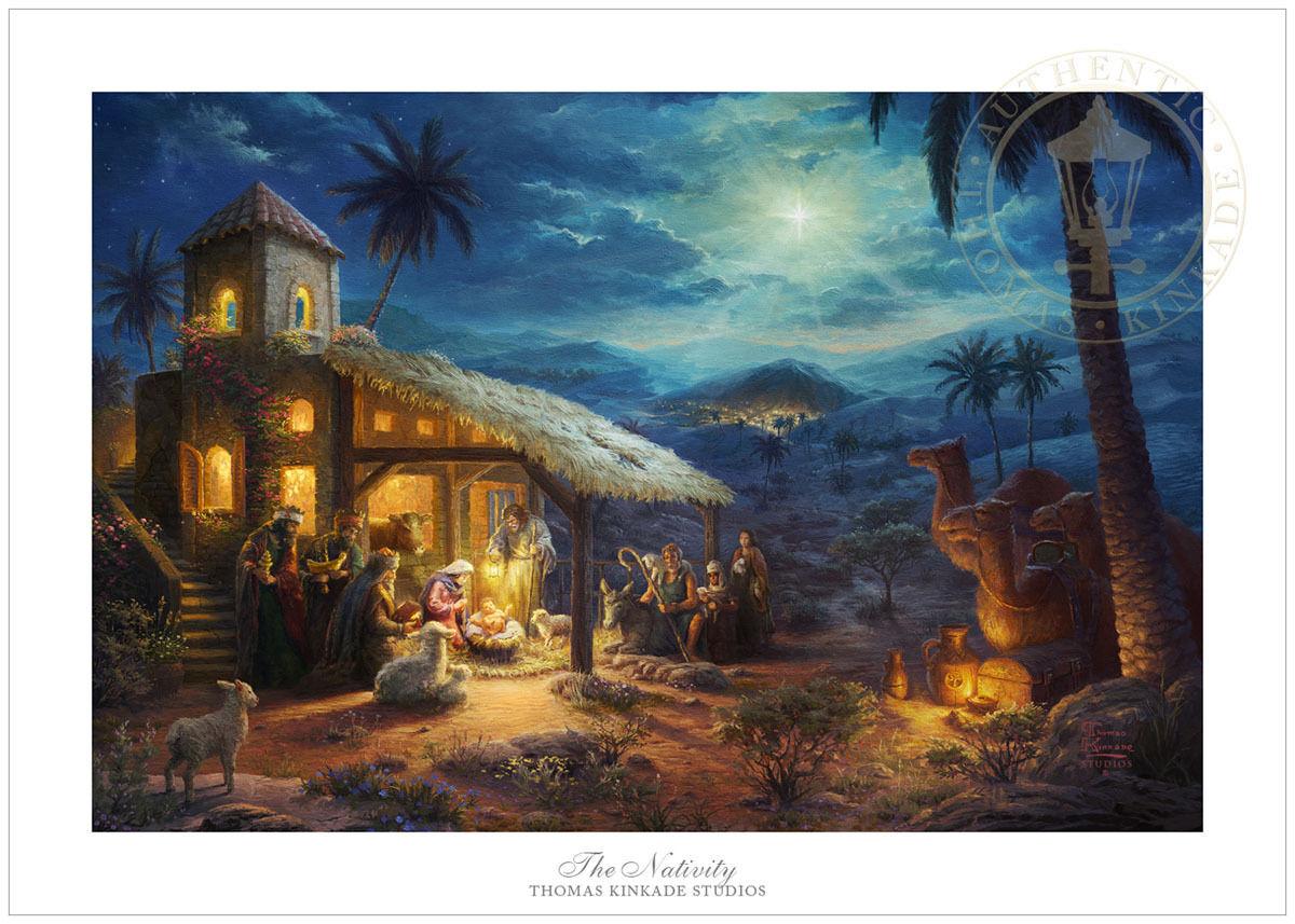 Thomas Kinkade Christmas - The Nativity – 12x18 S/n Limited Edition ...