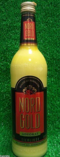 (10,83€/L) Nordgold EIERLIKÖR ADVOKAT 0,35l  Nordbrand Nordhausen Ostprodukt