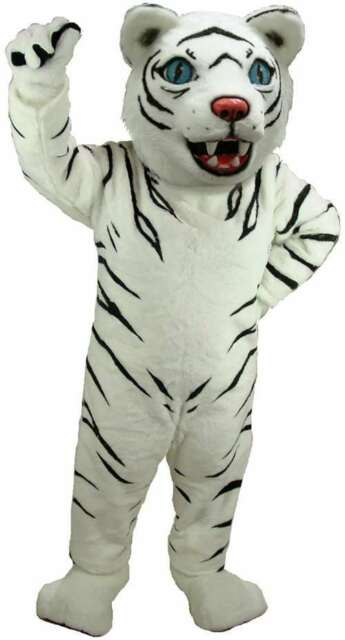 White Tiger Professional Quality Lightweight Mascot Costume Adult Size  sc 1 st  eBay & White Tiger Professional Quality Lightweight Mascot Costume Adult ...