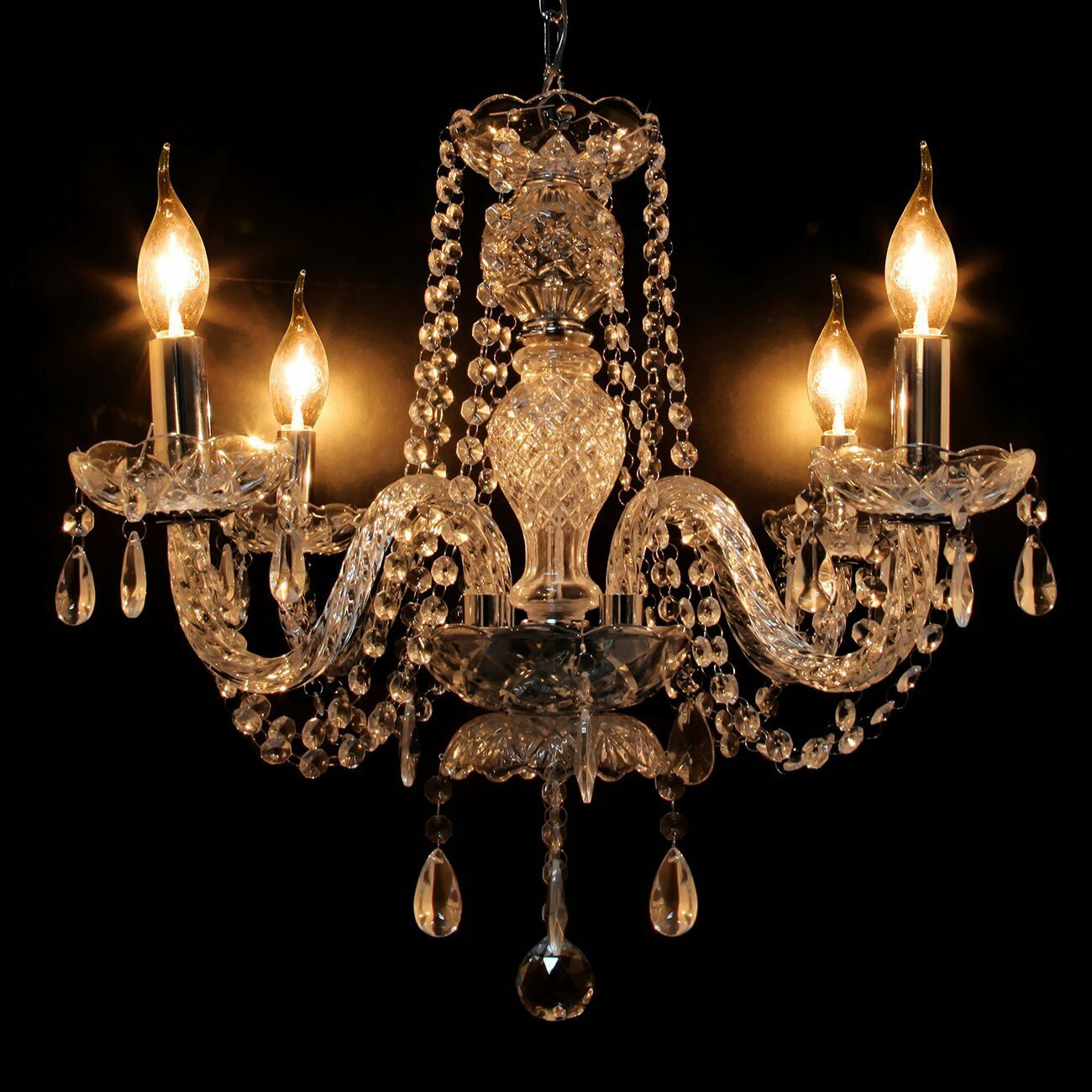 Elegant crystal chandelier modern ceiling light 4 lamp pendant picture 1 of 8 arubaitofo Choice Image