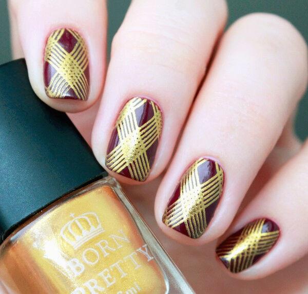 6ml Born Pretty Nail Art Stamping Polish Gold Stamp Plate Printing ...