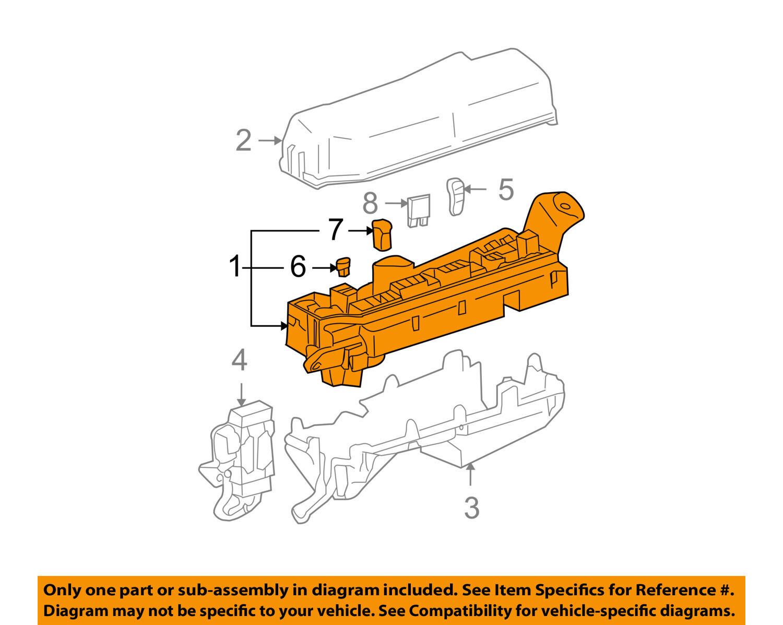2005 Toyota Corolla Starter Fuse The Amazing Box Ebay Car Wiring Diagrams Explained