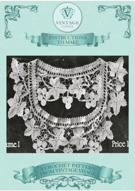 Vintage 1900s Crochet Pattern How To Make A Very Old Crochet Lace