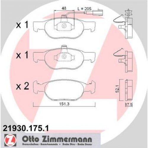 ZIMMERMANN Brake Pad Set, disc brake 21930.175.1
