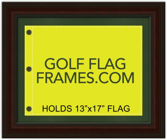 16x20 Brown Flag Frame Brn-005 Holds 13x17 Masters Golf Flags Flag ...