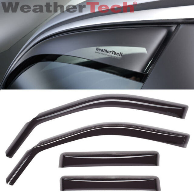 WeatherTech Side Window Deflectors for Nissan Armada 2004-2015 - Dark Tint