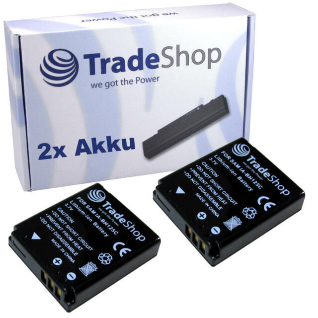 2x AKKU für Pentax Optio X90 X-90 D-Li106 DLi106