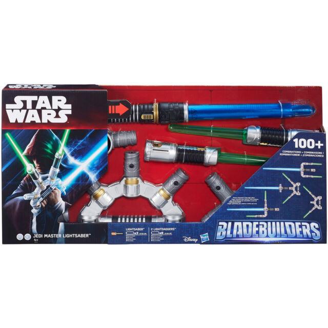 Star Wars Bladebuilders Jedi Master Electronic Lightsaber NEW