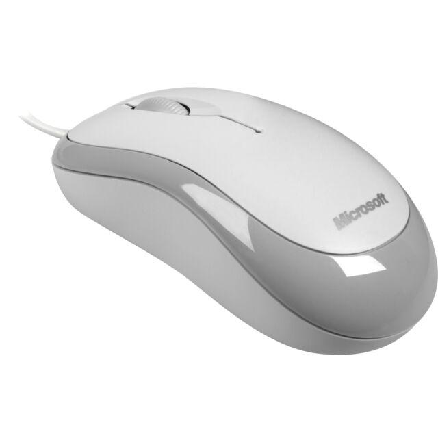 Microsoft Ready Mouse, Maus, optisch, 800 dpi, USB, 3 Tasten, weiß