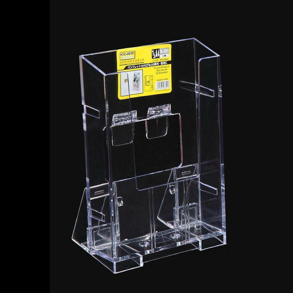 Clear Acrylic Business Card Holder Brochure Desk Stand Pamphlet ...