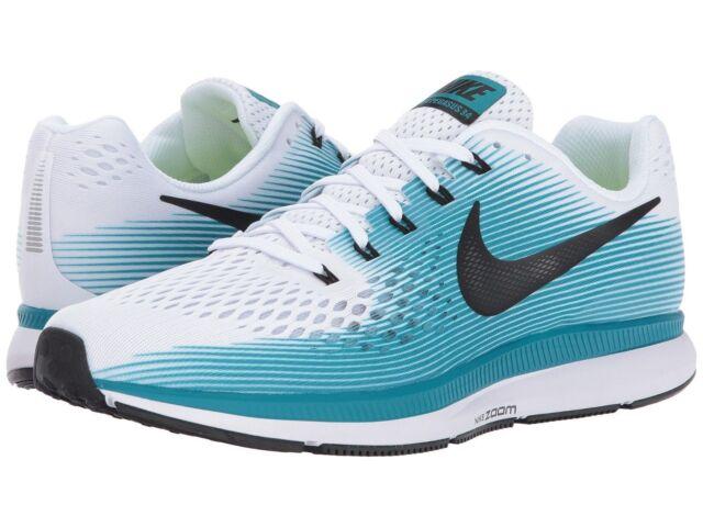 New Nike Men's Air Zoom Pegasus 34 Size 7 - white black blue running 880555-
