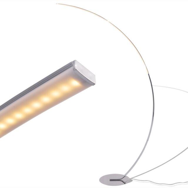 vidaXL LED Stehlampe Bogenlampe Stehleuchte Leuchte Büro Beleuchtung Dimmbar 24W