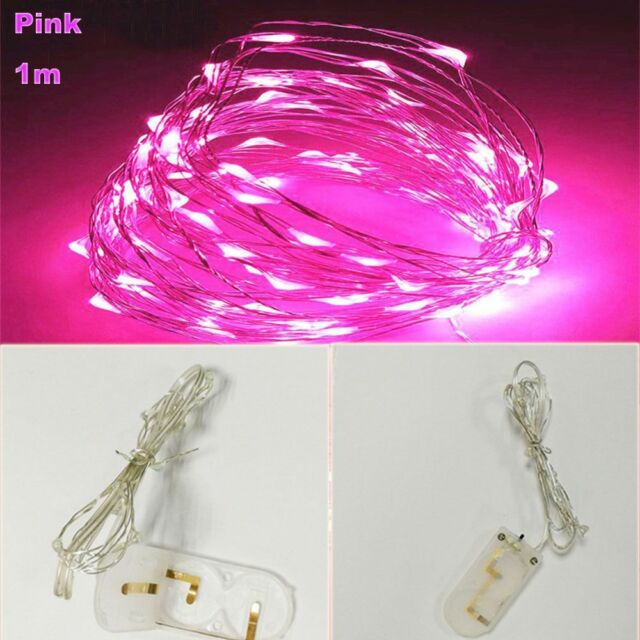 Battery Powered Copper Wire Decor Lamp LED String Fairy Lights Night ...