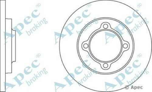 1x OE Quality Replacement Front Axle Apec Solid Brake Disc 4 Stud 219mm - Single