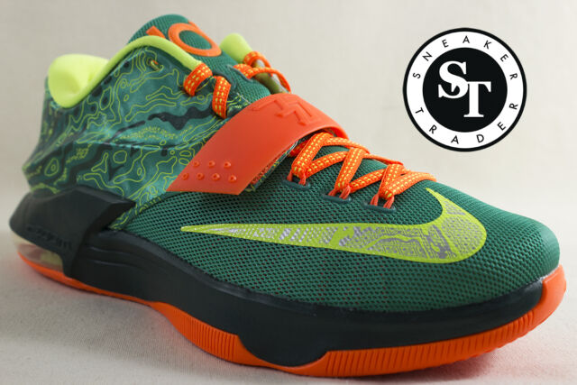 NEW Nike Men Shoes KD VII 7 WEATHERMAN Durant Size 11 653996-303 green orange