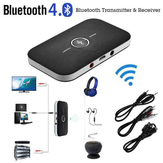 2in1 bluetooth transmitter receiver wireless a2dp home. Black Bedroom Furniture Sets. Home Design Ideas