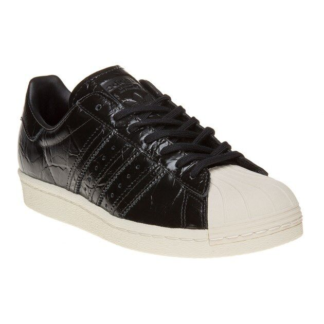 ADIDAS Originals Superstar Scarpe Da Ginnastica Nero UK 6