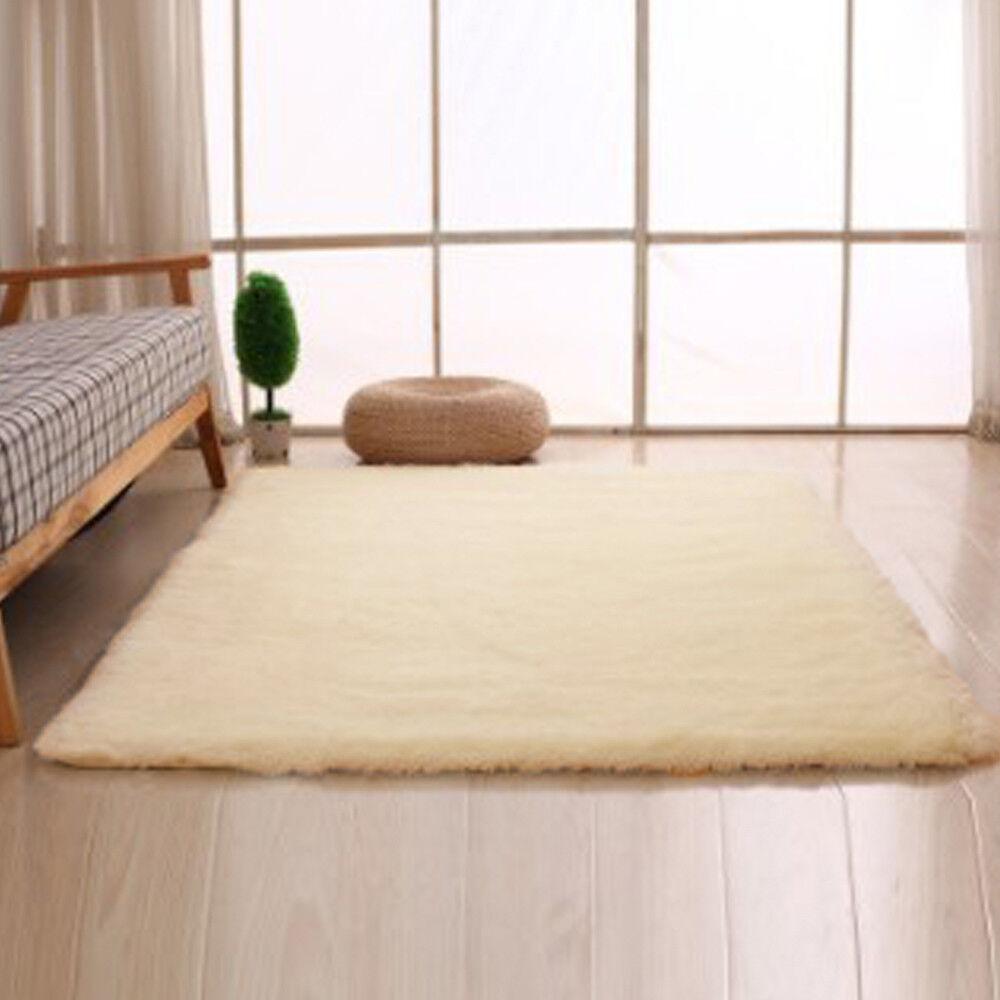 Soft Home Dining Room Carpet Anti Skid Area Rug Bedroom Shaggy