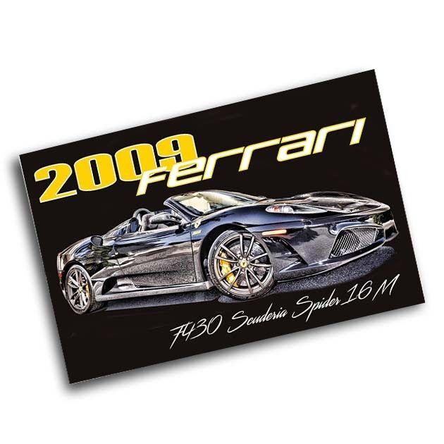 2009 Ferrari F430 Scuderia Spider 16m 11x17 Poster Ebay