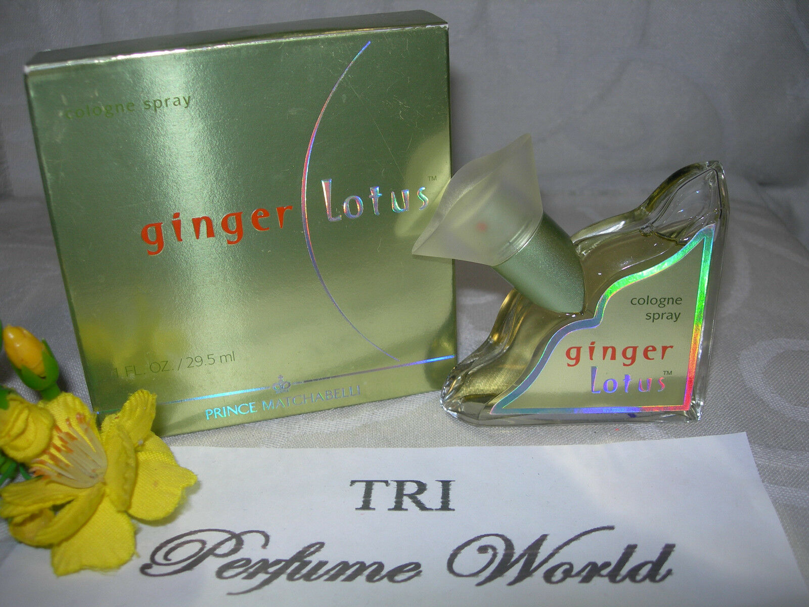 Ginger lotus cologne spray 1 oz prince matchabelli vintage full no picture 1 of 2 izmirmasajfo