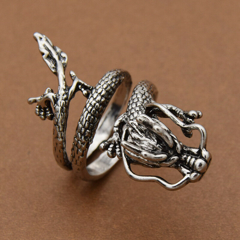 1 PC Chinese Dragon Rings Personalized Finger Ring for Mens Gothic