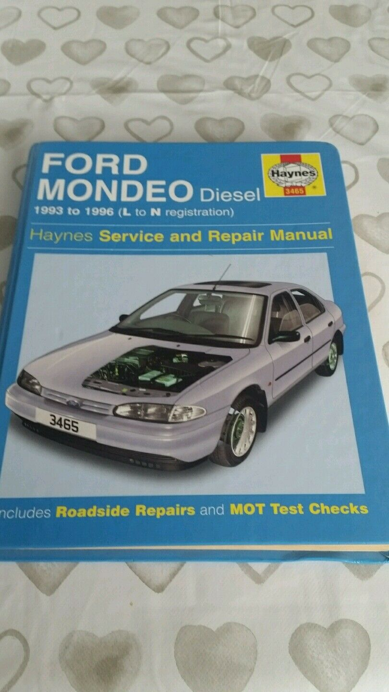ford mondeo mk1 diesel 1993 to 1996 haynes workshop manual 3465 vgc rh ebay com Ford Sierra Ford Mondeo MK3