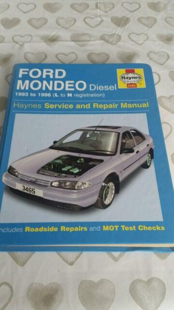 ford mondeo mk1 diesel 1993 to 1996 haynes workshop manual 3465 vgc rh ebay com