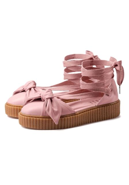 5b03be4af55d ... 139.99 365794-01 Fenty Puma By Rihanna Women Bow Creeper Sandal silver  pink factory sneaker ...