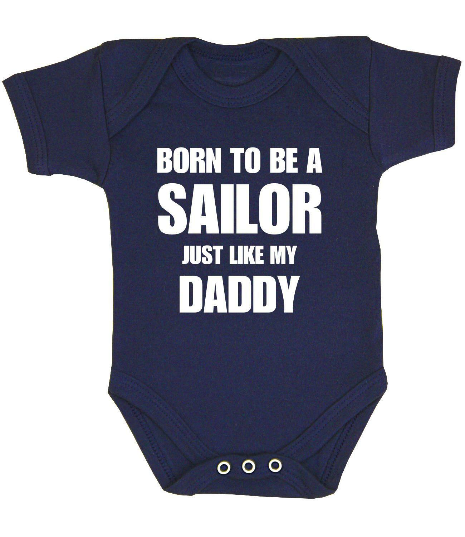BabyPrem Baby Clothes Boys Girls Sailing Daddy Slogan Bodyvest