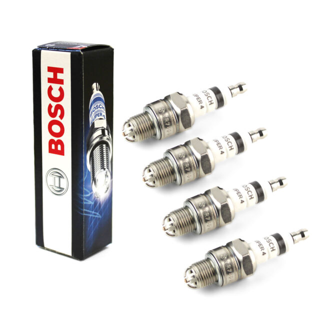 4x Bosch Super 4 Spark Plugs Genuine Engine Ignition Service Part Set/Kit