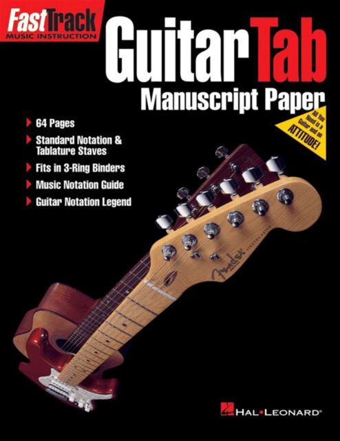 Guitar TAB & Standard Notation Manuscript Paper Sheet Music Book Tablature