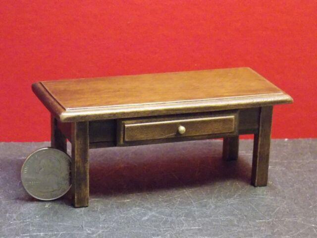 Dollhouse Miniature Modern Coffee Table Walnut 1 12 One Inch Scale