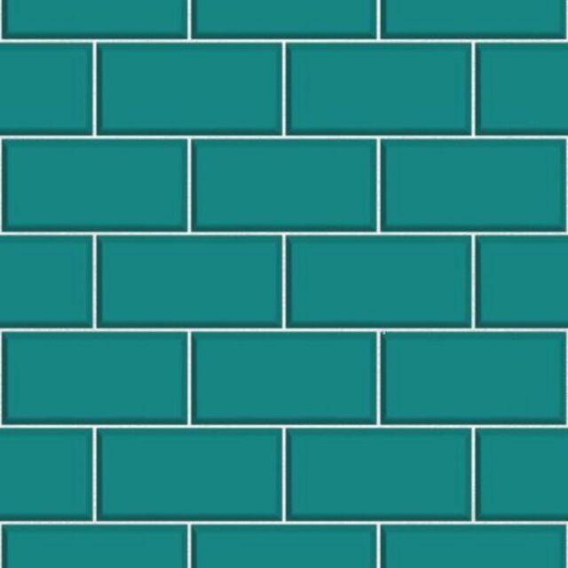 Cerámica ladrillo azulejo verde azulado cocina y Baño papel pintado ...