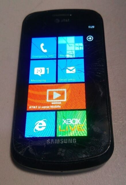 Samsung Focus (SGH-i917) - 8GB - AT&T (UNLOCKED) - WORKS - READ BELOW