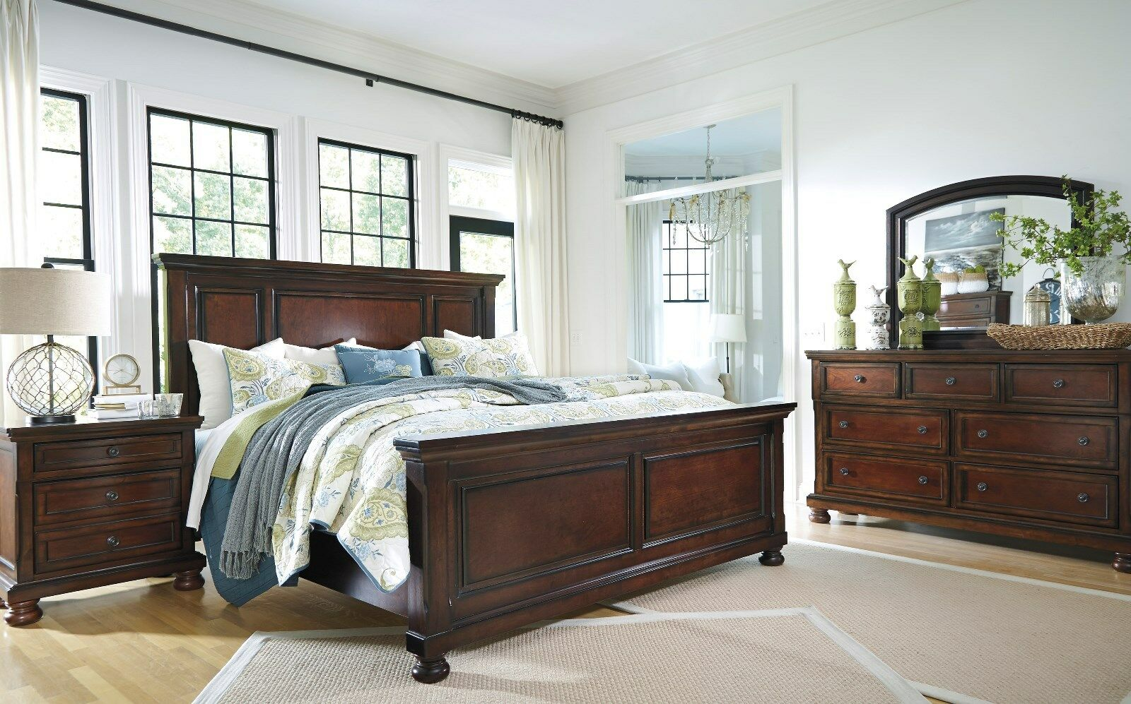 Ashley Furniture Porter Queen Vintage Casual 6 Piece Panel Bed Set ...