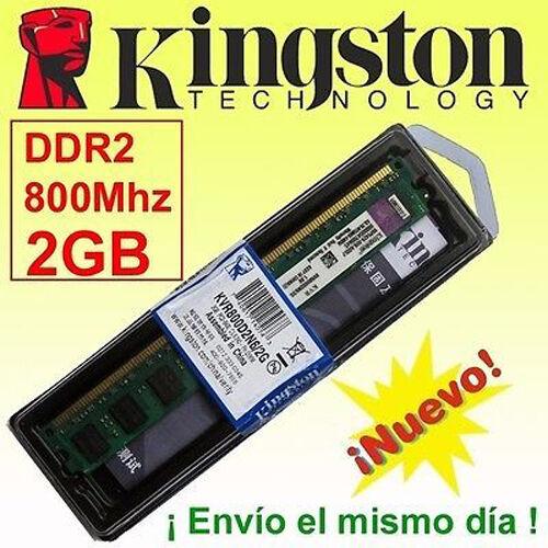 Memoria RAM DDR2  2GB 800 Mhz Kingston - ¡ NUEVA ! - 100% Compatible!!!!!!